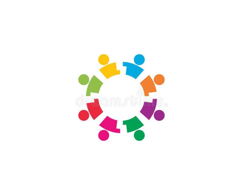 Community logo vector icon illustration. Adoption and community care logo template vector icon illustration design, success, finger, hand, friend, communication royalty free illustration