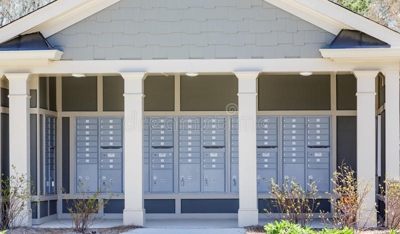 Community Mailboxes royalty free stock image