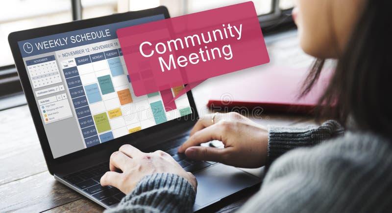 Community Meeting Connection Diversity Unity Concept stock photos