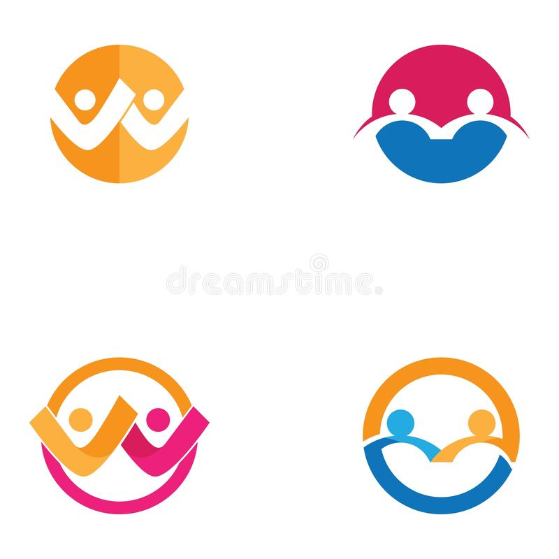 Community, network and social icon. Community, network and social icon, abstract, business, circle, company, concept, connection, cooperation, corporate vector illustration