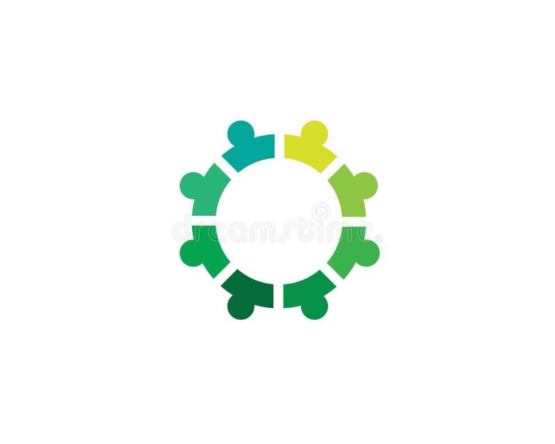 Community people care logo symbol template vector.  vector illustration