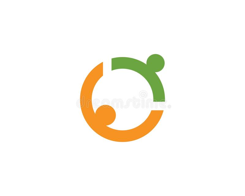 Community people care logo symbol template vector.  stock illustration