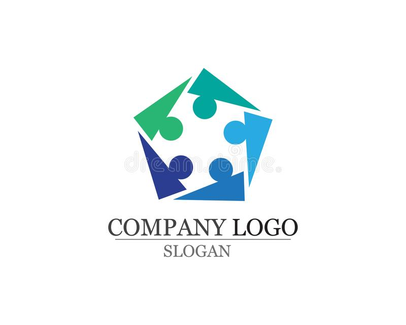 Community people care logo and symbols template vector royalty free illustration