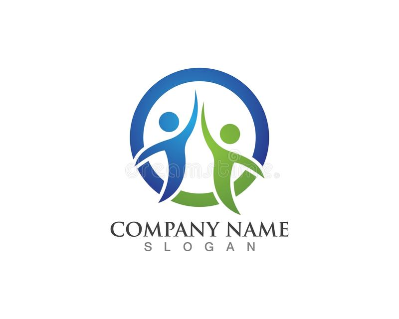 Community people care logo and symbols template vector stock illustration