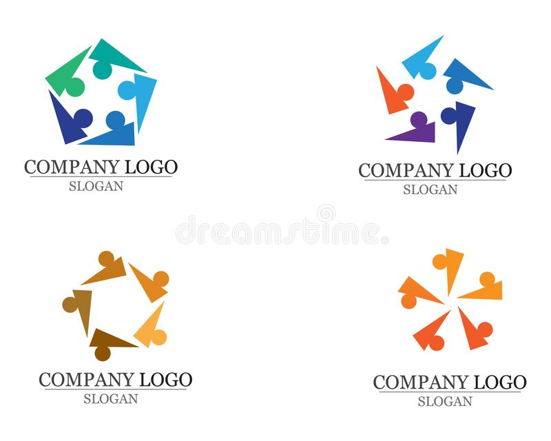 Community people care logo and symbols template vector vector illustration