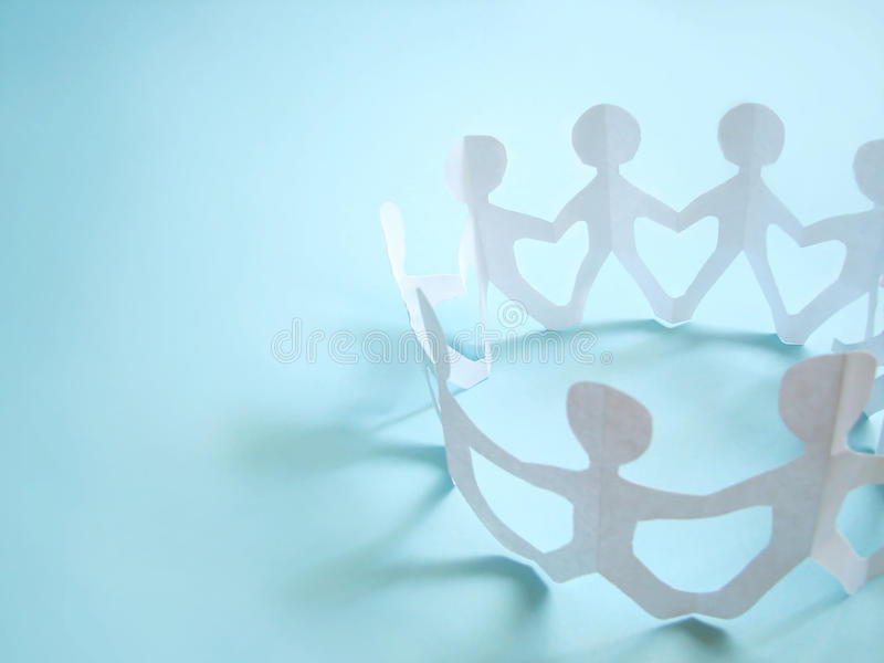 Community of people holding on hands stock photo