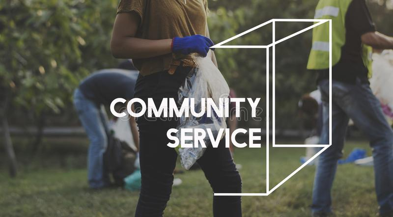 Community service volunteers togetherness teamwork royalty free stock photos
