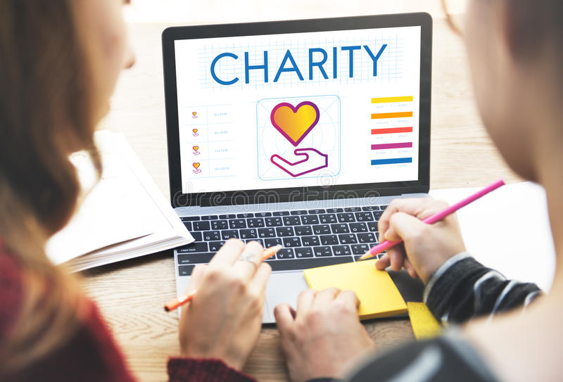 Community Share Charity Donation Concept stock photography