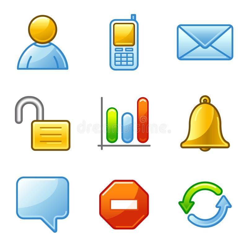 Community web icons royalty free illustration