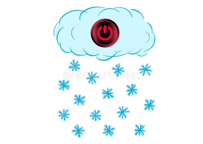 Commuté outre du nuage de neige illustration libre de droits