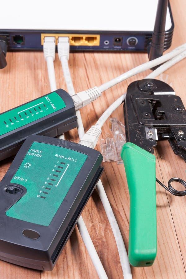 Commutateur d'Ethernet photo stock