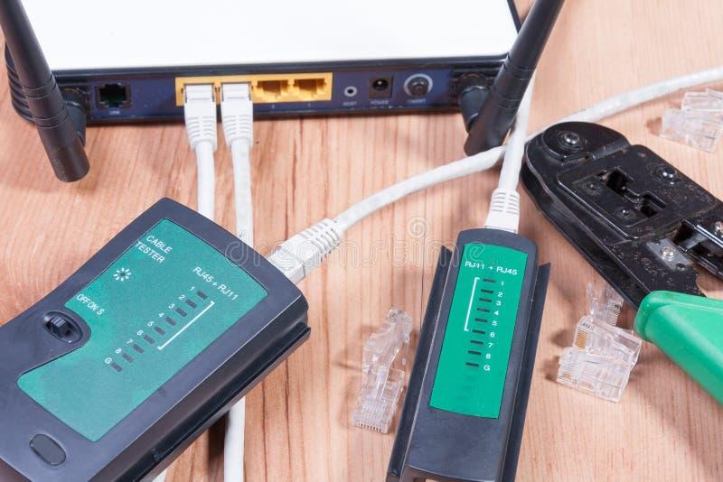 Commutateur d'Ethernet images stock