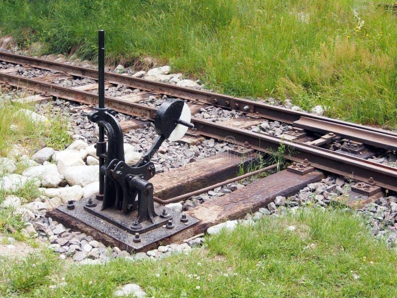 Commutateur de chemin de fer image stock