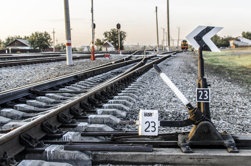 Commutateur de chemin de fer images stock