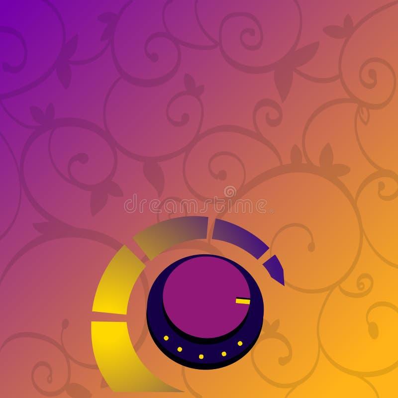 Commutateur de commande rotatoire de ciel et terre d'équipement électronique et de gaz Bouton de contrôle du volume avec la ligne illustration libre de droits
