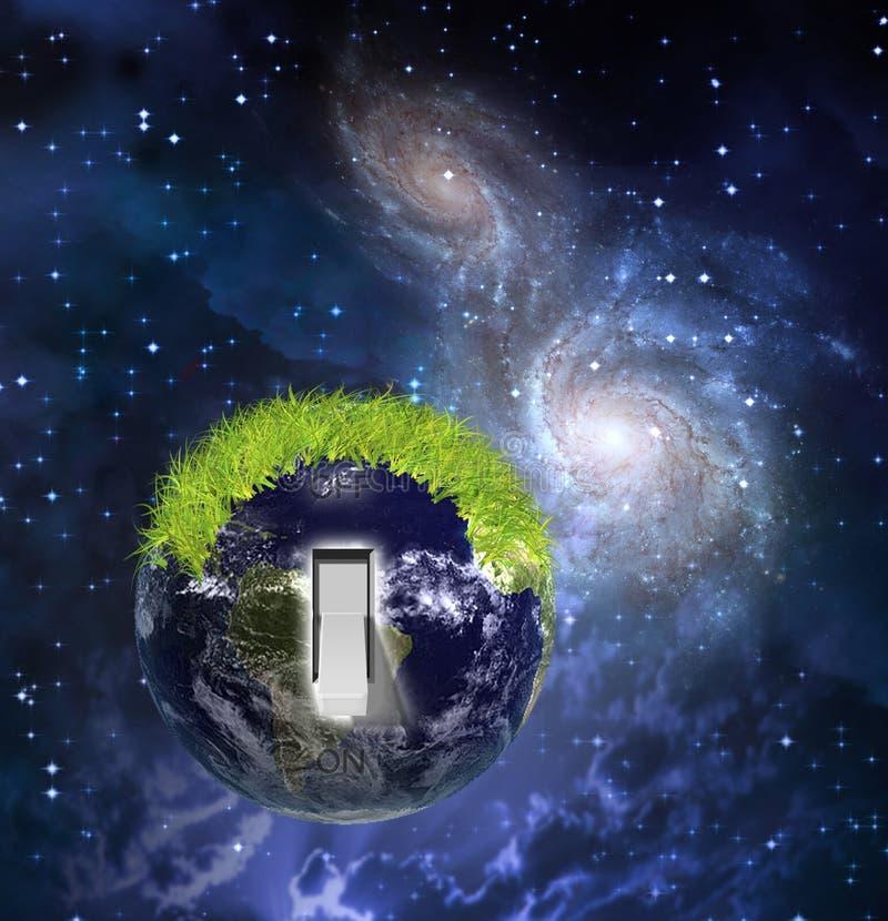 Commutateur de la terre illustration libre de droits