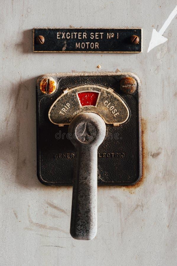 Commutateur de moteur de vintage - centrale abandonnée - Indiana Army Ammunition Depot - l'Indiana abandonnés images stock