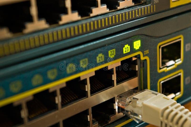Commutateur de réseau image stock