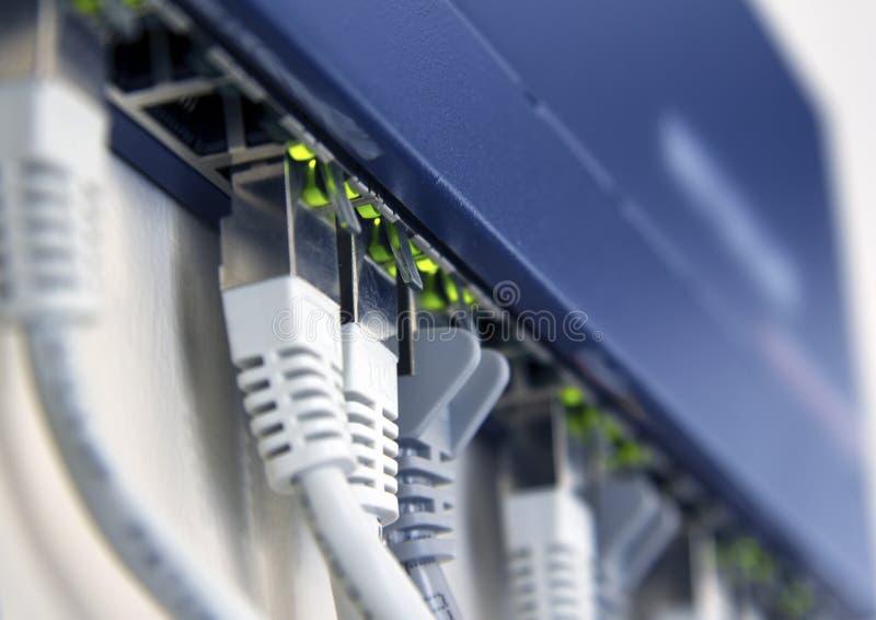 Commutateur de réseau actif image libre de droits