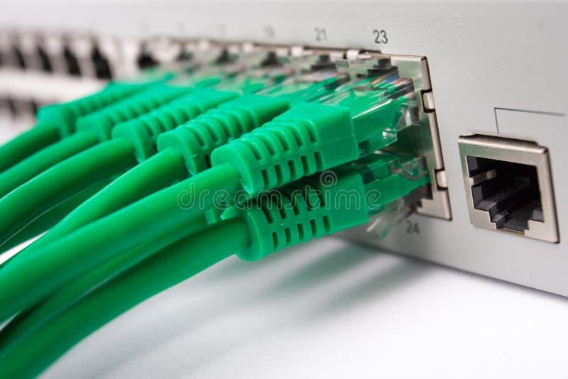 Commutateur de réseau local images stock