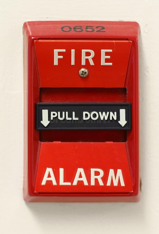 Commutateur de signal d'incendie photo stock