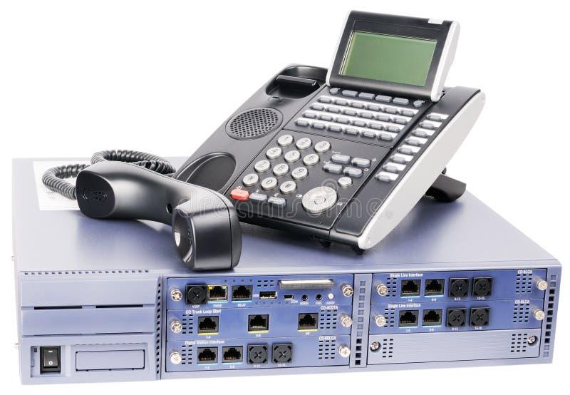 Commutateur de téléphone et poste téléphonique off-hook image stock