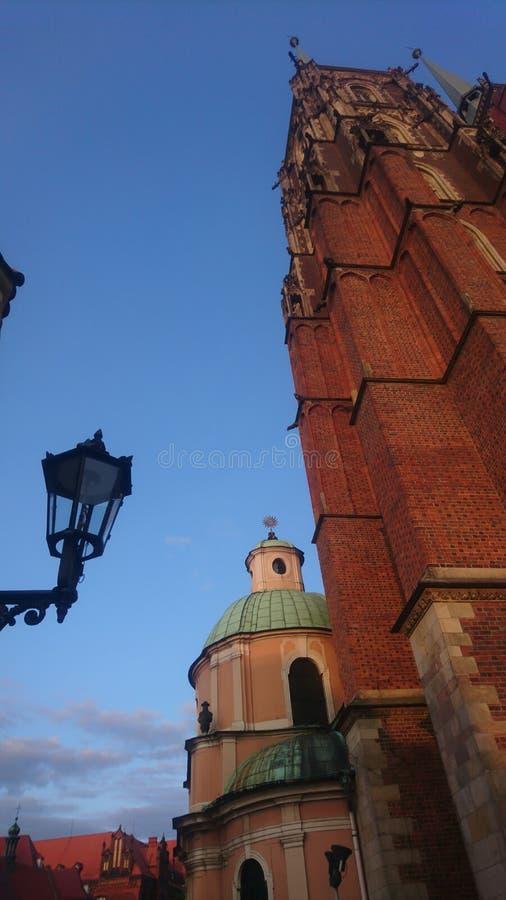 Commutateur de Wroclaw Katedra Jana Chrzciciela photos libres de droits
