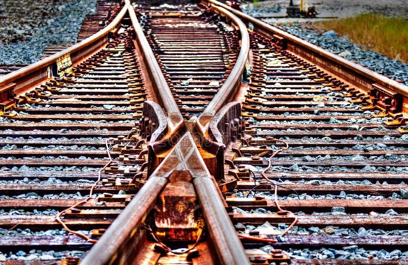 Commutateur HDR pour voies ferrées photo stock