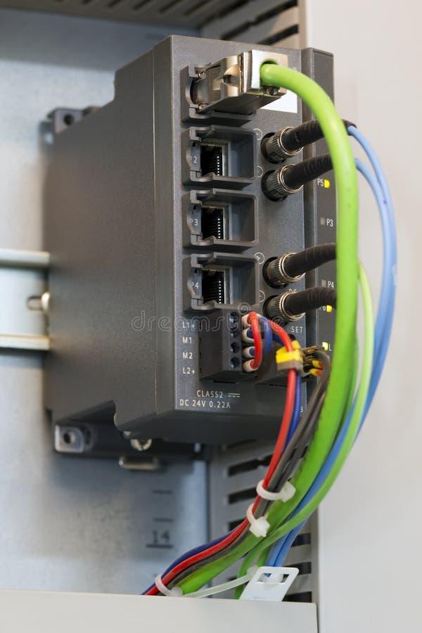 Commutateur industriel d'Ethernet photographie stock libre de droits
