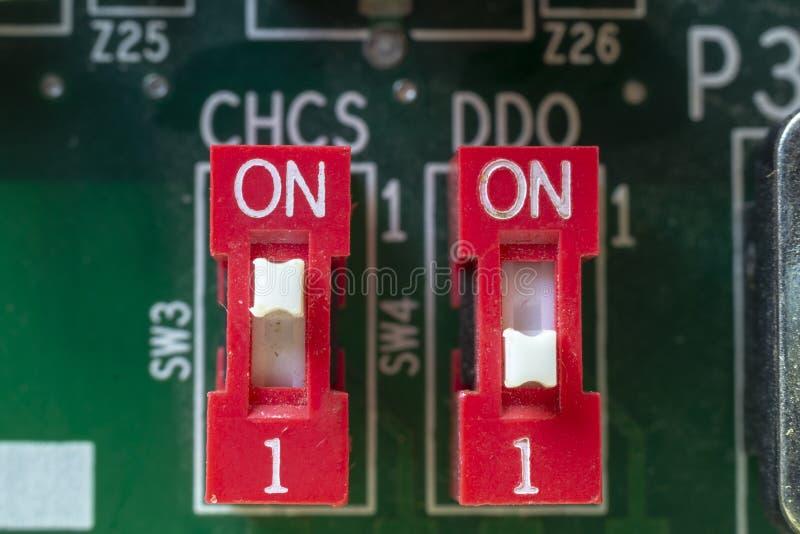 Commutateurs électriques image stock