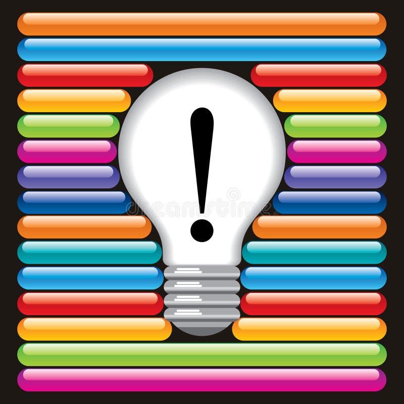 Commutateurs et ampoule illustration libre de droits