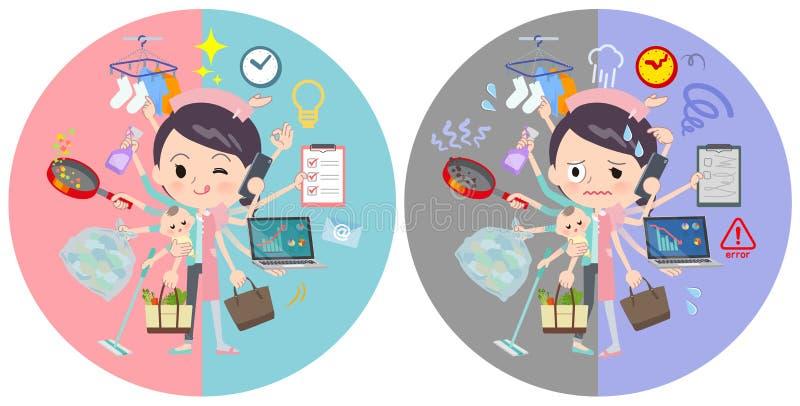 Commutatore di compito del women_mulch di usura dell'infermiere royalty illustrazione gratis
