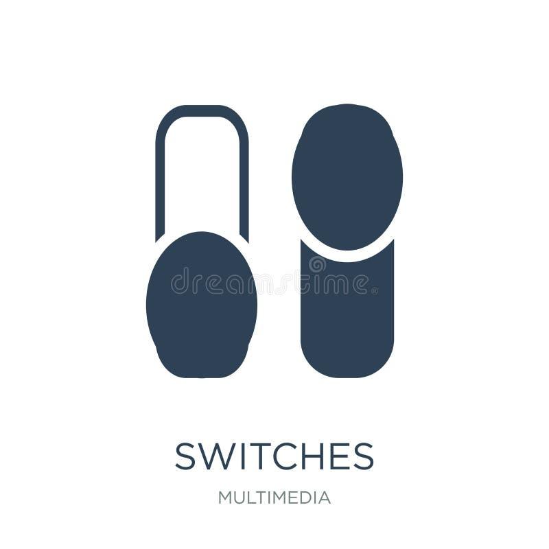 commute l'icône dans le style à la mode de conception icône de commutateurs d'isolement sur le fond blanc appartement simple et m illustration libre de droits