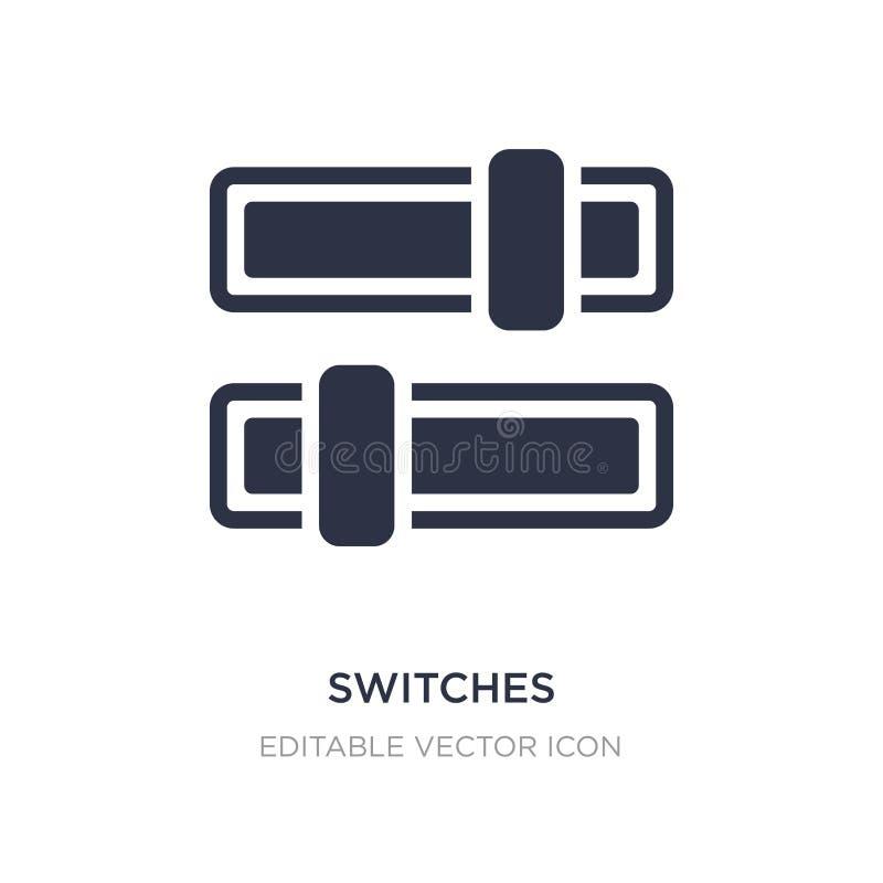 commute l'icône sur le fond blanc Illustration simple d'élément de concept de multimédia illustration de vecteur