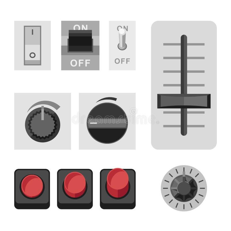 Commute les icônes plates photos libres de droits