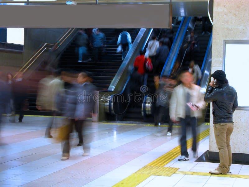 Commuter pass-motion blur aspect stock photo