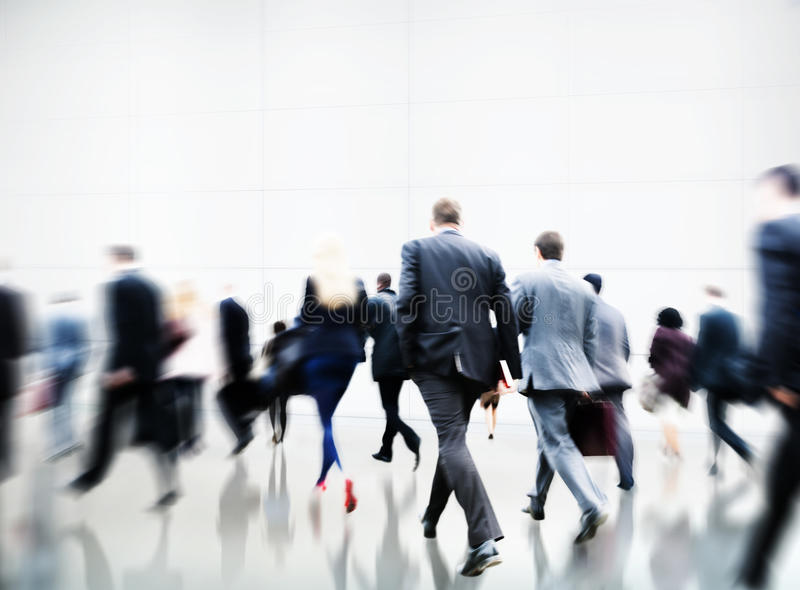 Commuter Rush Hour Travel Waking Business Concept stock photography