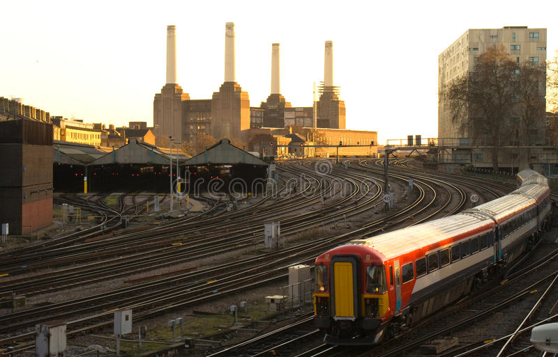 Download Commuter Train Approaching London Victoria Stock Image - Image of station, stock: 17881171