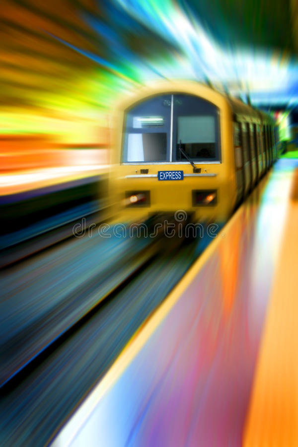 Commuter train express stock photo