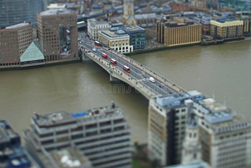 Commuters crossing London Bridge, London stock images