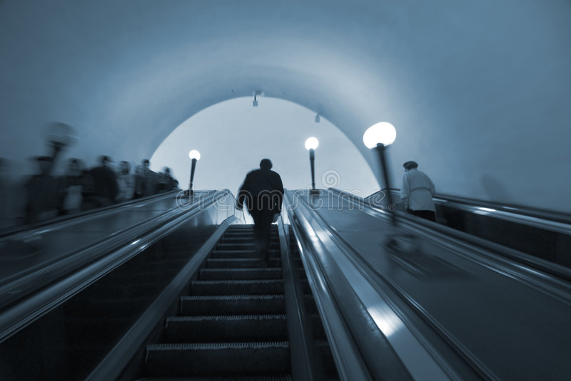 Download Commuters in Moscow metro stock image. Image of activity - 2221387