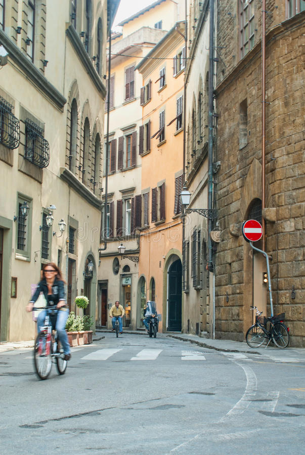 Commuters On Narrow Streets Editorial Image