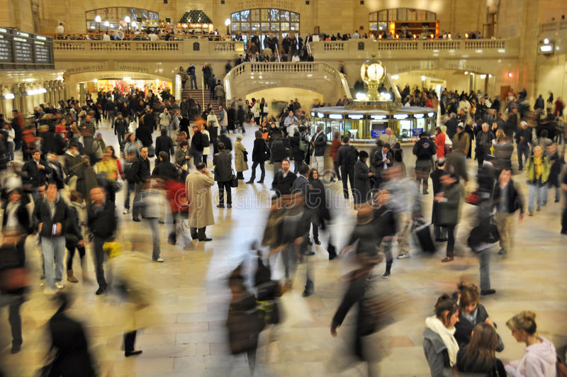 Commuters Rushing in Grand Central Terminal, New York stock image