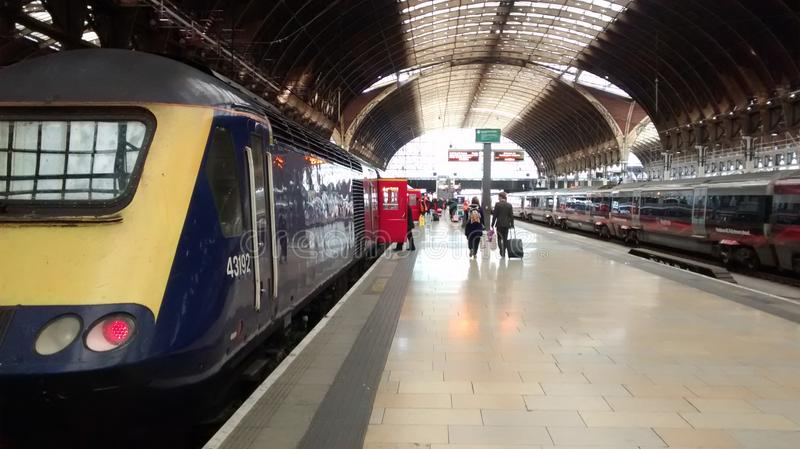 Paddington Railway Station, London stock photo