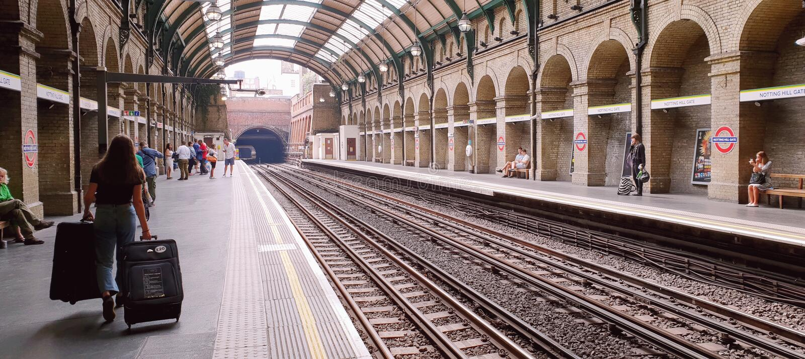 Notting Hill Metro Station, London royalty free stock photography
