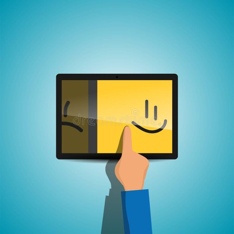Commutez de la tristesse au bonheur image libre de droits