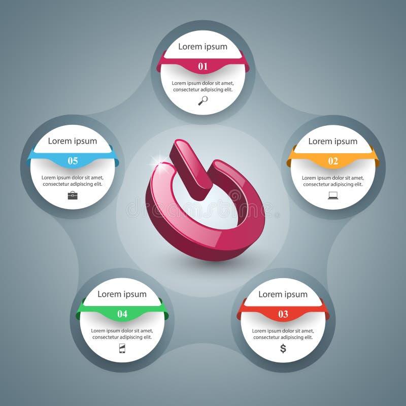 Commutez l'icône Affaires abstraites infographic illustration de vecteur