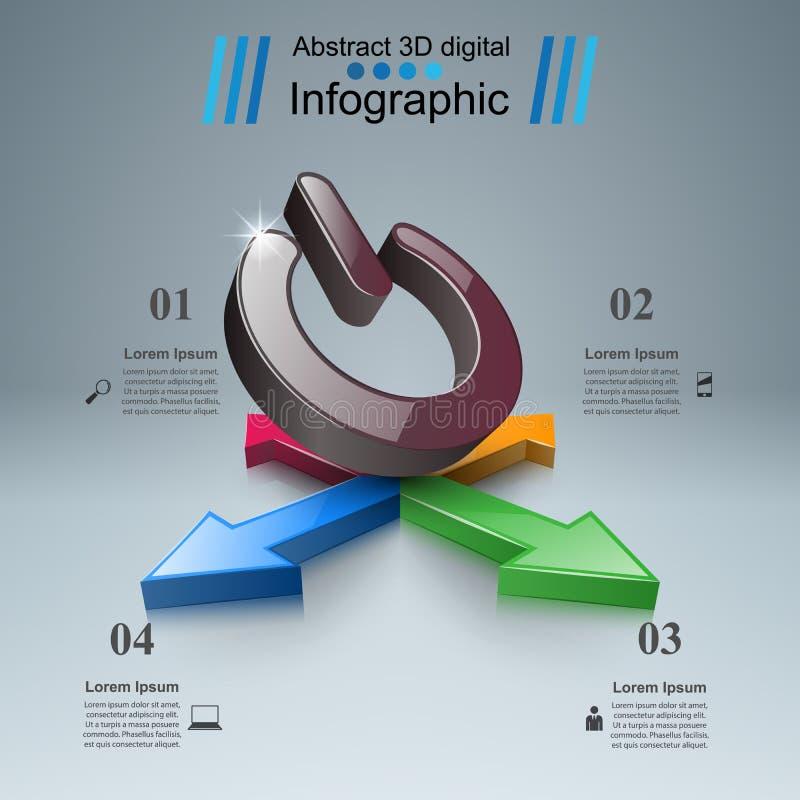 Commutez l'icône Affaires abstraites infographic illustration stock