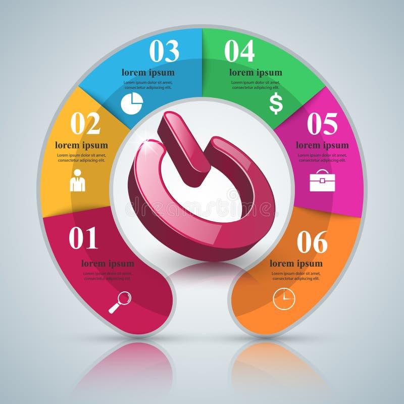 Commutez l'icône Affaires abstraites infographic illustration libre de droits