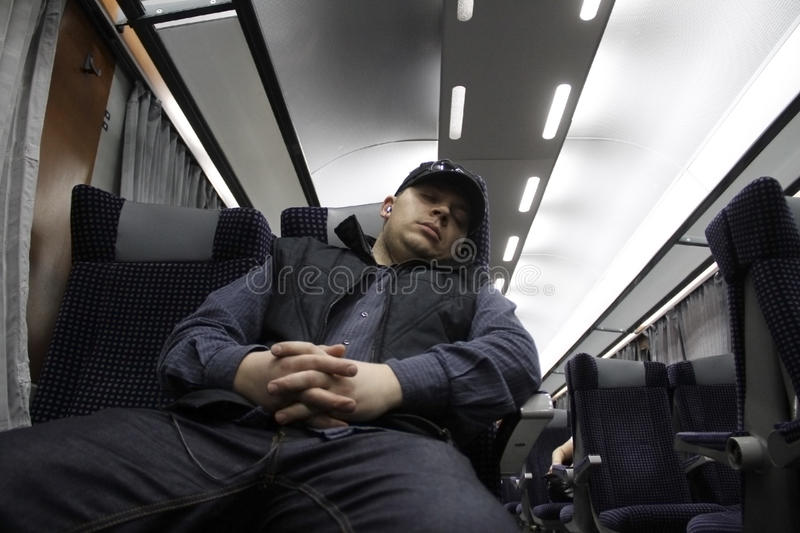 Download Commuting train stock image. Image of passenger, sleeps - 26037463